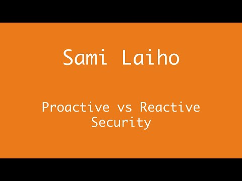 Proactive vs Reactive Security