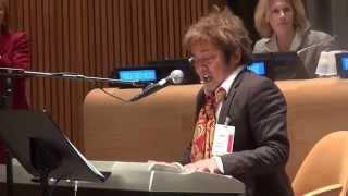 Japanese Rock Star Shinji Harada Performing at the United Nations i...
