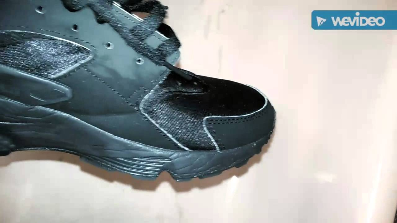 How to clean all black Huaraches - YouTube