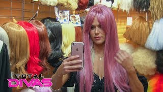Lana tries out several new looks in a wig shop: Total Divas, Oct. 17, 2018