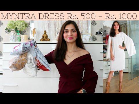 MYNTRA DRESS Rs. 500 - 1000   MYNTRA SALE HAUL UNDER Rs. 800   Myntra Online Shopping   Tanu Gupta