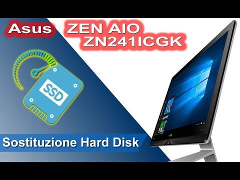 Asus ZEN AIO ZN241ICGK smontaggio e installazione SSD. Disassembly and SSD replacement