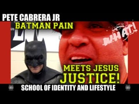 Batman pain meets Jesus Justice