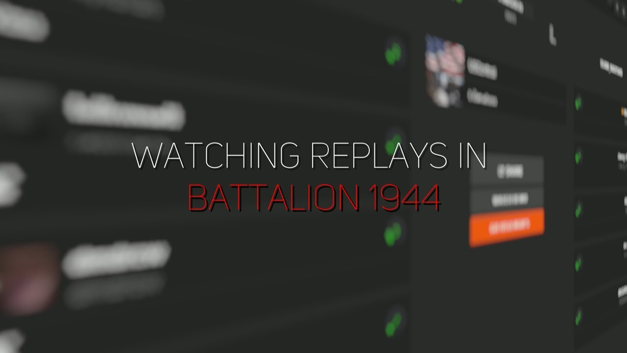 How To Watch Demos From Faceit in Battalion 1944 [Tutorial]