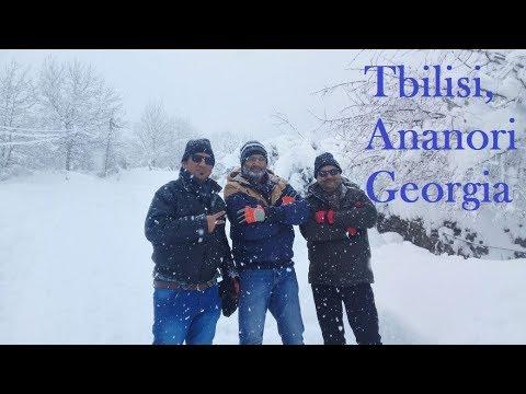 Tbilisi Georgia Tourism in November/December Heavy snow Ananori Gaduri Tbilisi 2017 2018