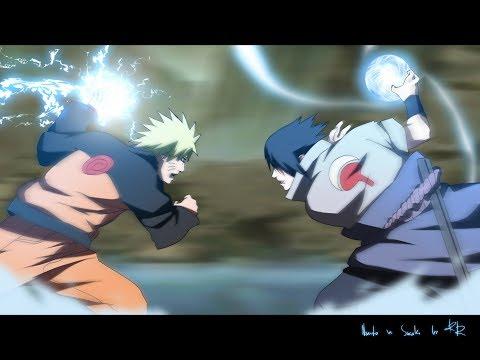 Все битвы Наруто против Саске(Часть 1)