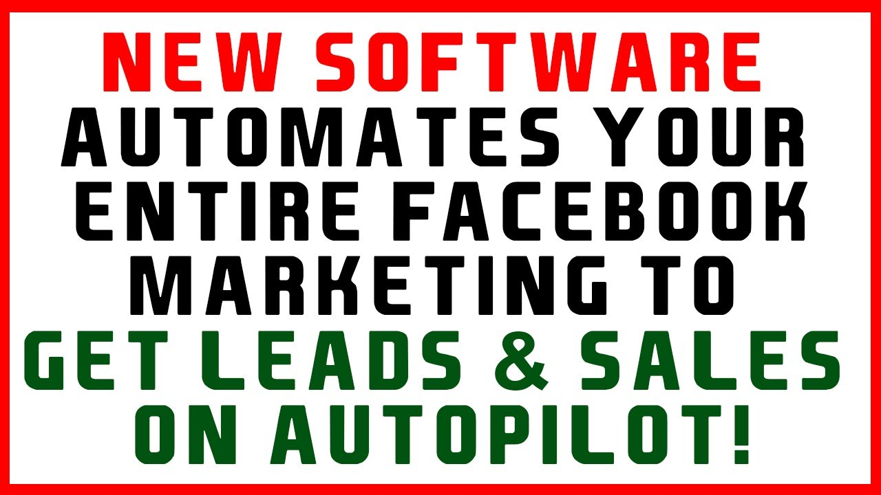 BEST Facebook Marketing Software 2020 – SEE THE FB TOOL IN ACTION!