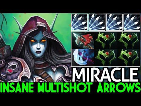 MIRACLE [Drow Ranger] Insane Multishot Arrows Full Wraith Band Build 7.26 Dota 2