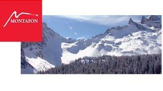 Das Montafon im Winter aus der Vogelperspektive
