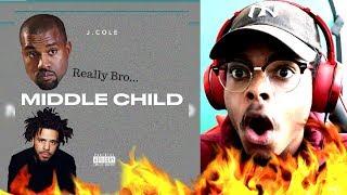 Kanye Got 24hrs | J. Cole - Middle Child | Reaction