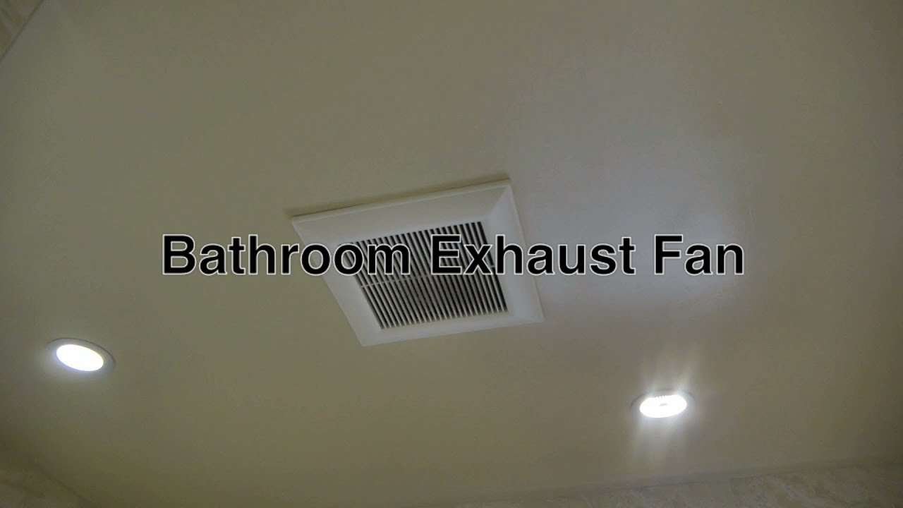 Panasonic Bathroom Exhaust Fan For Attic Ceiling Ventilation Without Light  W/ Strong Vent Motor   YouTube