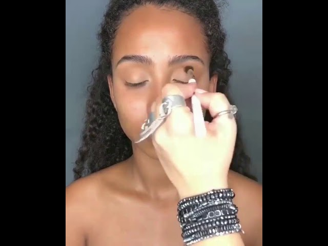 Dewy Shimmer Glam Makeup