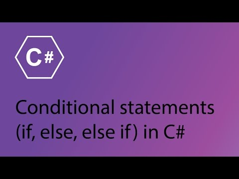 C# Programming Tutorial 7 - Conditional Statements (if, else, else if)