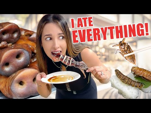 I TRIED THE WEIRDEST JAPANESE FOOD IN TOKYO | Mariale