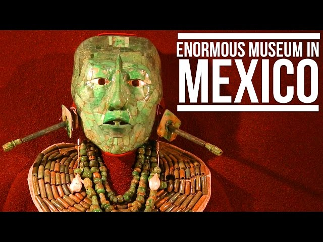 ENORMOUS MUSEUM IN MEXICO (NATIONAL MUSEUM OF ANTHROPOLOGY)  Eileen Aldis