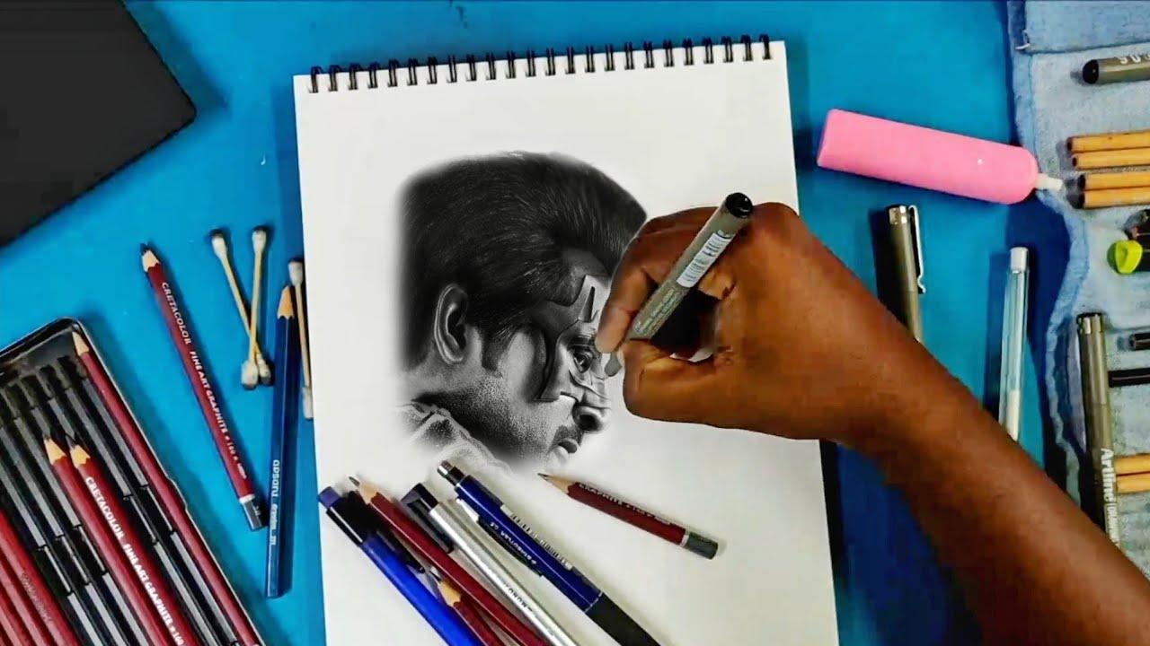 Pencil Drawing Of Sivakarthikeyan | Hero Mask - YouTube