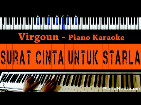 Virgoun - Surat Cinta Untuk Starla - Piano Karaoke / Cover - Indonesian Song