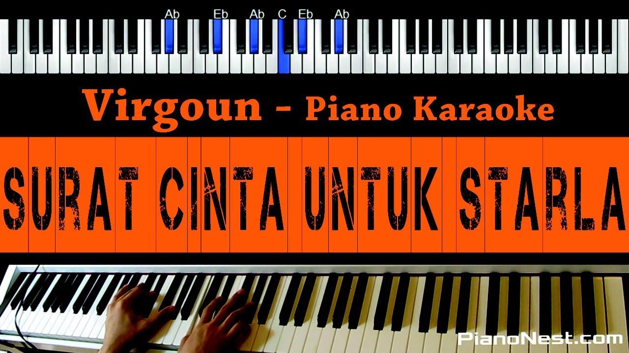 Virgoun Surat Cinta Untuk Starla Piano Karaoke Cover Indonesian Song