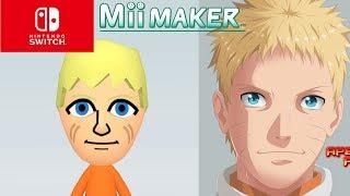 Mii-Maker, Wie Man Erstellen Sie Naruto Uzumaki Der Siebte Hokage Aus Naruto (Switch)