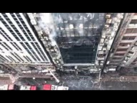 Office building catches fire in Bangladesh capital