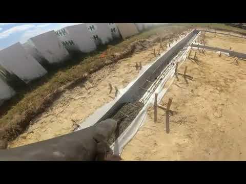 # Zalewanie Ławy fundamentowej  18,80 m 3   Betonu klasy B 20 #