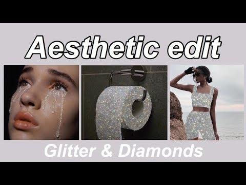 Aesthetic Edit Glitter And Diamonds Sara Shakeel Inspired Youtube