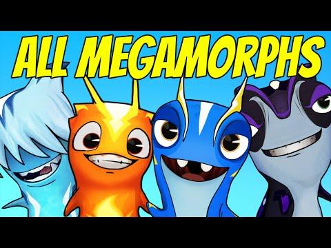 Slugterra Slug it Out ! #95   ALL MEGAMORPHS - FLATULORHINKUS, INFURNUS, FROSTCRAWLER & TAZERLING