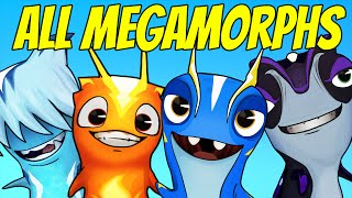 Slugterra Slug it Out ! #95 | ALL MEGAMORPHS - FLATULORHINKUS, INFURNUS, FROSTCRAWLER & TAZERLING