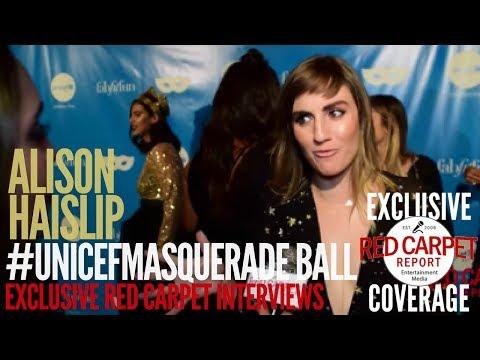 Alison Haislip ed at UNICEF's 5th Annual Masquerade Ball FabFitFun