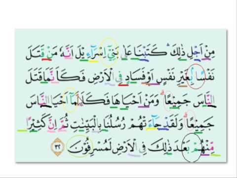 Tajwid Surat Al Maidah Ayat 32