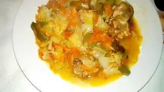 Солянка. Вкусный салат с капустой и курицей - рецепт
