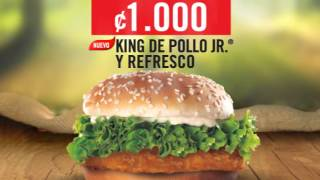 King de Pollo Jr y Refresco por un rojo
