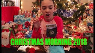 Opening Presents Christmas Morning 2018