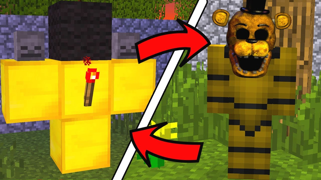 How To Spawn FNAF Golden Freddy in Minecraft (Golden Freddy Addon)