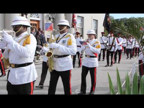 Regiment Arrives At Re-Convening Of The Legislature Bermuda November 4 2011
