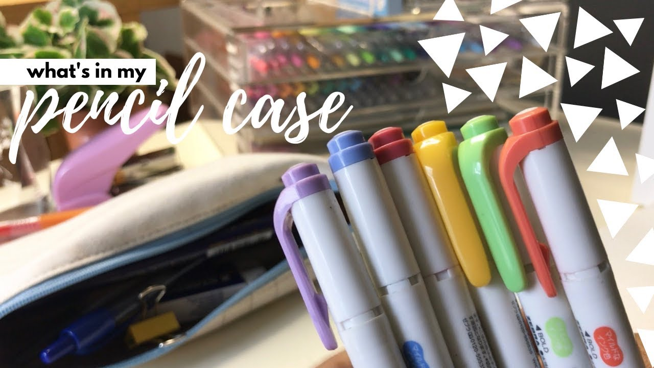 What is in my Pencil Case? + Stationery Reviews | Studychaii