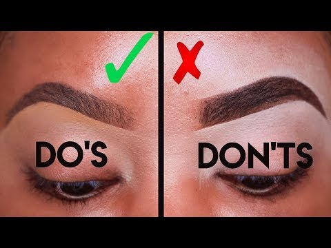MAKEUP FOR BEGINNERS: EYEBROW DO'S AND DON'TS! | KYRA KNOX