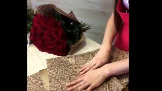 видео Букеты из красных роз