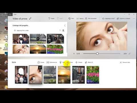 Creare video con filmati, foto, musica, filtri, testo, effetti 3D con Windows 10