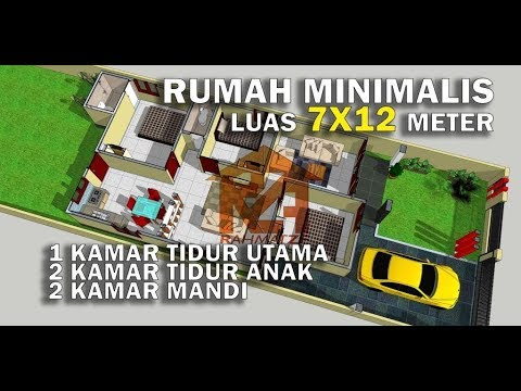 Desain Rumah Luas 7x12 Meter 3 Kamar Tidur Youtube