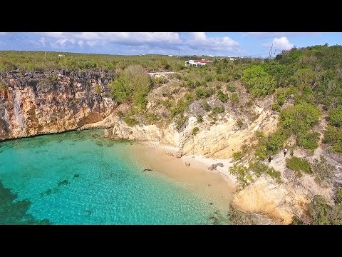 Aerial Anguilla Beaches... Little Bay, Anguilla