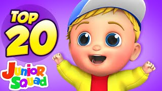 Top 20 Nursery Rhymes | Boo Boo Song | Bath Song | Junior Squad Songs For Kids