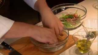 Летний салат с говядиной