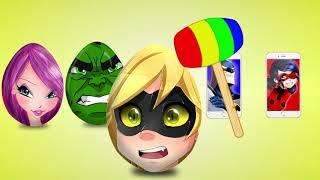 Яйца с Сюрпризами. Учим Цвета. Learn Colors with Surprise Eggs. Aprende los Colores Huevos Sorpresa.