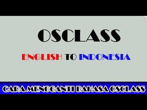 Cara Translate Bahasa Situs Iklan Osclass Menjadi Bahasa Indonesia  - Video Tutorial Osclass