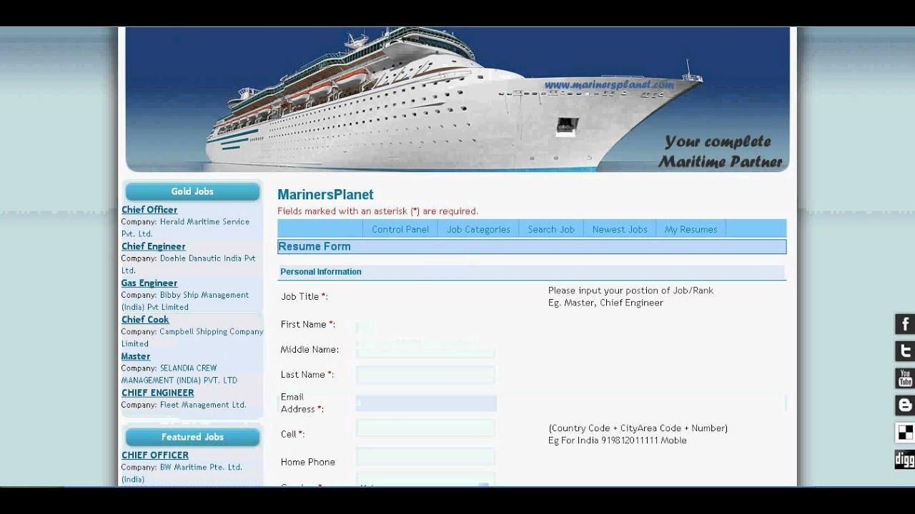 maritime cv