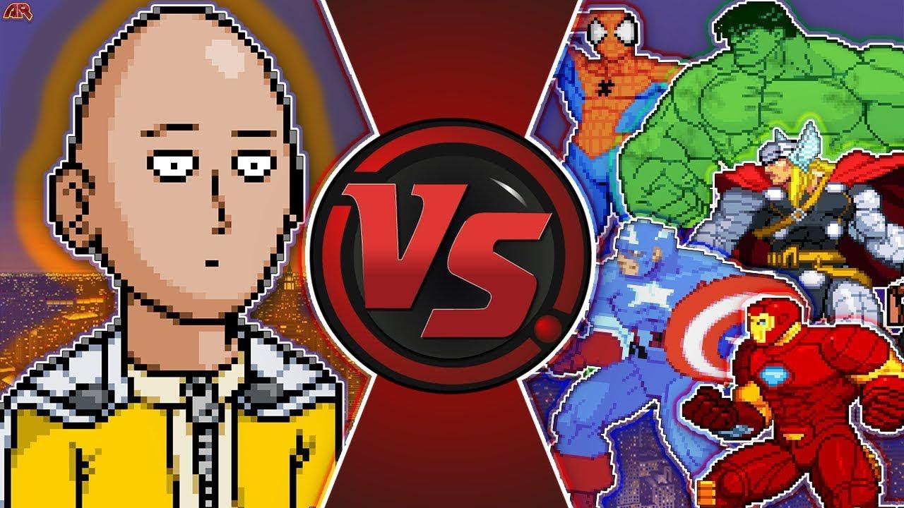 Download ONE PUNCH MAN vs AVENGERS! (Saitama vs Hulk, Thor, Spider-Man & More) Cartoon Fight Club Episode 275