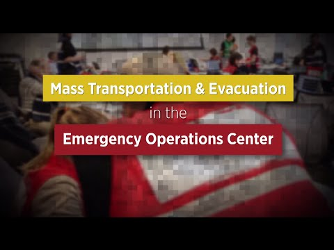 Just In Time EOC Training - Mass Transportation and Evacuation