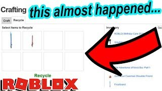 SO ROBLOX ALMOST HAD A CRAFTING SYSTEM... but it never happened