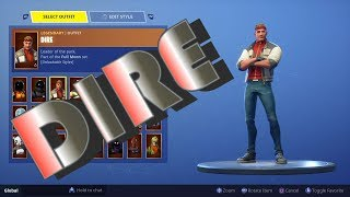 Fortnite New Season 6 Battle Pass DIRE Skin + The New Emotes